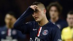 Paris Saint-Germain's Italian midfielder Marco Verratti reacts during the French L1 football match between Paris Saint-Germain (PSG) and Nantes at the Parc des Princes stadium in Paris on December 6, 2014. AFP PHOTO / FRANCK FIFE (Photo credit should read FRANCK FIFE/AFP/Getty Images)