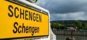 epa04505610 A view of Schengen's sign in the village of Schengen, Luxembourg, 14 October 2014. EPA/NICOLAS BOUVY
